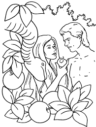 Small Picture Adam and eve coloring pages and the serpent ColoringStar