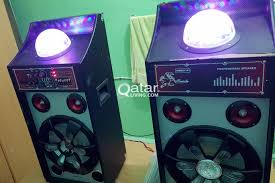 Disco Lights Big W 2 Big Speakers W Disco Lights Qatar Living