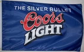Coors Light Beverage Center Coors Light Blue Beer Flag 3 X 5 Indoor Outdoor Silver Bullet Banner Original Version
