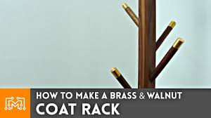 Brass Coat Rack How to Make a Brass and Walnut Coat Rack Woodworking 96