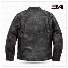 Leather Jacket With Design On Back Harley Davidson Men S Dauntless Convertible Motorcycle Leather Jacket