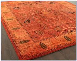 rust colored rug runner
