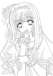 Small Picture Two Anime Girl Coloring PagesAnimePrintable Coloring Pages Free