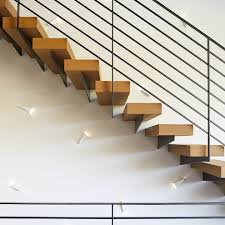 stair tread lighting. Contemporary Stair Tread With Different Direction Lighting Staircase And Modern Pendant Lights S