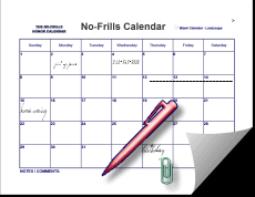 Basic Calendars 2018 Printable Monthly Calendars Big Date Boxes