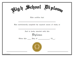 Free Homeschool Diploma Template 37 High School Diploma Template 2019 Free Doc Pdf