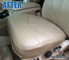 13 ford f 13 lariat leather seat cover driver bottom tan