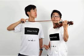 violin virtuosos hit streets to kick start crowdfunding campaign queensland conservatorium graduates eddy chen and brett yang have already reached their target just days after hitting the streets to kick start the world s