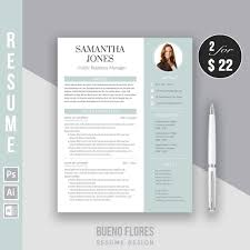 Resume Template Samantha Jones Cover Letter 20 Icons Pc Mac Instant Download Creative Elegant Feminine Free Login Keeper