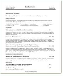 Executive Assistant Resume Sample Admin Objective Of For – Template ...