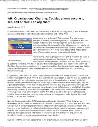 Pdf Wiki Organizational Charting Cogmap Allows Anyone To