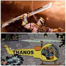 Thanos's double bladed sword is just ...