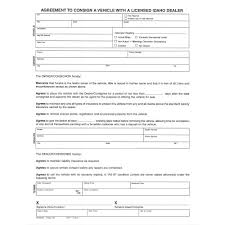 consignment form for cars consignment agreement pad 100