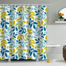 shower curtain shower environmentally friendly. Leaves Printed PEVA Waterproof Durable Antibacterial Eco-friendly Shower Curtain Environmentally Friendly E