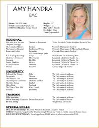 Acting Resume Templates Adorable 48 Acting Resume Template Free Skills Based Actor Chelshartmanme
