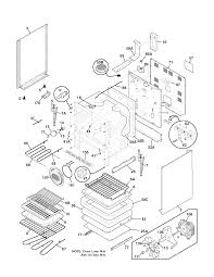 Plef398ccc electric range body parts diagram