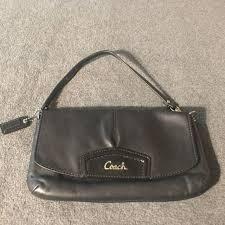 small coach black purse euc