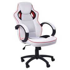 office leather chair. Executive Office Sports Racing Gaming Computer Faux Leather Chair Adjustable H