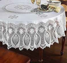 clear heavy duty vinyl tablecloth protector oblong 70 x 126 deluxe collection kitchen dining erqqwb6ev