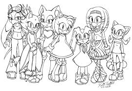 Small Picture Sonic Girls Coloring Pages PrintGirlsPrintable Coloring Pages