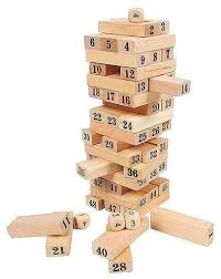 Wooden Bricks Game Wooden Tumbling Tower Blocks Garden Game Outdoor Family Party 3