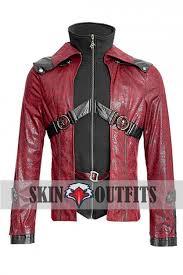 goth steampunk shadow womens red black jacket