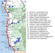south (southern) oregon coast area campgrounds
