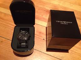 men s emporio armani ceramic chronograph watch ar1452 watch brought this gorgeous watch for my boyfriends 30th birthday it arrived today and wow it is stunning i would wear it myself even though its a mens watch