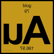 Periodic Table Digital Art Au Gold Periodic Table Of Elements By ...