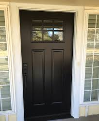 after image of oklahoma home with new fibergl entry door