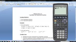 solving logarithmic and exponential equations part i