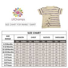 Lilchamps Graphic Half Sleeve T Shirt For Boys Rhino