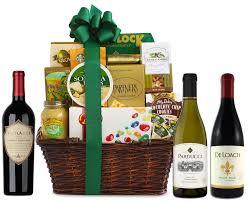 supplemental gift image california wine tour gift basket