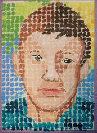 painting a portrait using ideas from chuck close paintings part 1