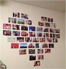 Share the love with a heart-shaped photo gallery display. For variety, try  mixing artistic photos and photos of family and friends.