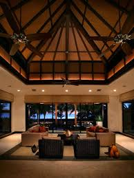 the inspiring luxury tropical homes design ideas inspiring luxury tropical beach houses family room with three blade ceiling fan also contemporary beach house living room tropical family room