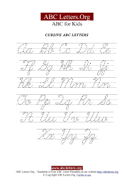 Capital And Lowercase Cursive Letters Chart Printable Cursive Letter Tracing Chart Uppercase Lowercase