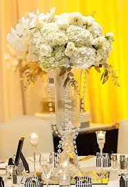 red white and gold wedding decorations black glamorous with a dash of belle the centerpieces