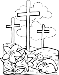 Religious Easter Coloring Pages For Preschoolers Simple Free Easter
