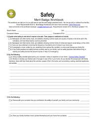 Safety: merit badge Worksheet for 5th - 12th Grade | Lesson Planet