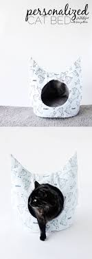 quirky cat shaped kitty bed
