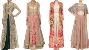 Overcoat Gown Designs Embroidered Net Shrug Design Ideas For Lehenga Palazzo Suit Crop Top Lehenge Net Jacket Design