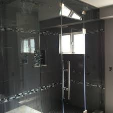 shower doors custom glass railing ocean view orange county