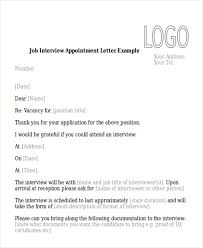 Sample Interview Appointment Letter 8 Examples In Pdf Word