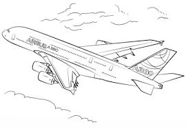 Airbus A380 Kleurplaat Gratis Kleurplaten Printen