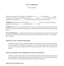 Free Loan Agreement Loan Agreement FREE Sample Template Word PDF 12