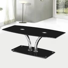 black coffee table. Hansen Black Glass Coffee Table