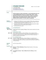 Resume Template For First Job Student Resume Templates Easyjob