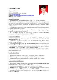 Resume Samples For Job Thisisantler Sample Part Time College