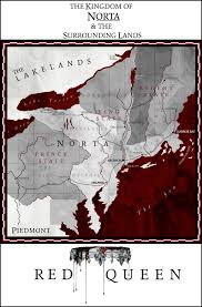 the map of the kingdom of norta in red queen by victoria aveyard presented by